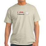 I Love Unicorns Light T-Shirt