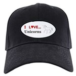 I Love Unicorns Black Cap