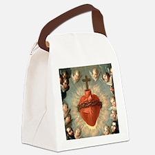 Sacred Heart Canvas Lunch Bag