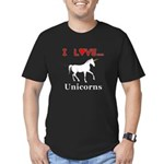 I Love Unicorns Men's Fitted T-Shirt (dark)