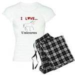 I Love Unicorns Women's Light Pajamas
