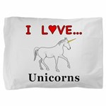 I Love Unicorns Pillow Sham