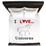 I Love Unicorns King Duvet