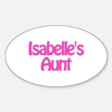 Isabelle's Aunt Oval Decal