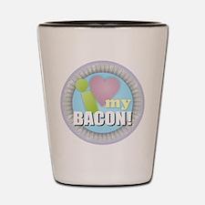 I Love My Bacon Shot Glass