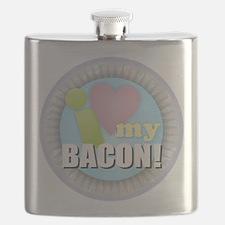 I Love My Bacon Flask