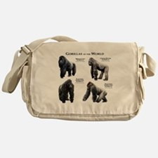 Gorillas of the World Messenger Bag