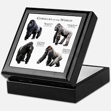 Gorillas of the World Keepsake Box