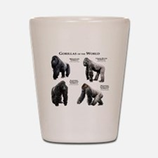 Gorillas of the World Shot Glass