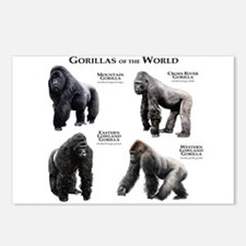 Gorillas of the World Postcards (Package of 8)
