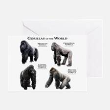 Gorillas of the World Greeting Card