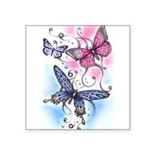 """Cute Bugs and insects Square Sticker 3"""" x 3"""""""