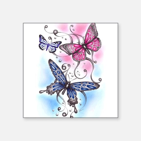 "Cute Insect Square Sticker 3"" x 3"""