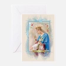 Funny Blessed virgin Greeting Cards (Pk of 20)