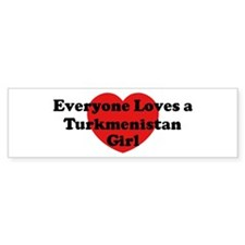 Turkmenistan girl Bumper Bumper Sticker