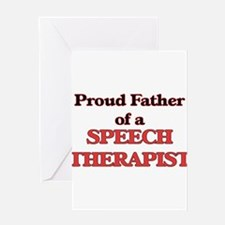 Proud Father of a Speech Therapist Greeting Cards