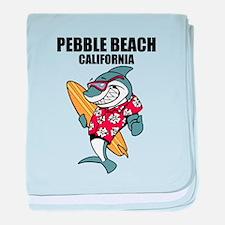Pebble Beach, California baby blanket