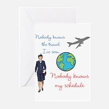 Unique Flight attendant Greeting Cards (Pk of 10)
