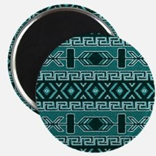 Turquoise Aztec Pattern Magnets