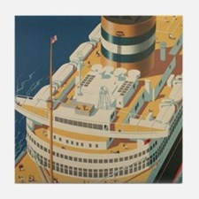 Funny Ocean liners Tile Coaster