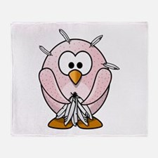 Funny Naked Penguin Throw Blanket