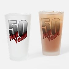 Funny Birthday gag 50 Drinking Glass