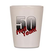 Unique Over the hill 50 Shot Glass