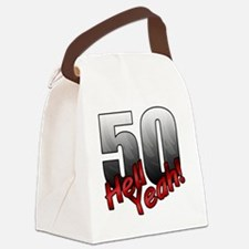 Funny 50 Canvas Lunch Bag