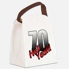 Turning 70 Canvas Lunch Bag
