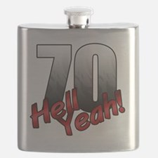 Funny 70th Flask