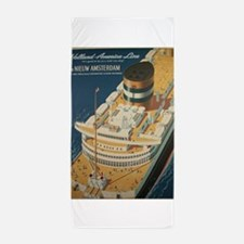 Vintage poster - Cruise ship Beach Towel