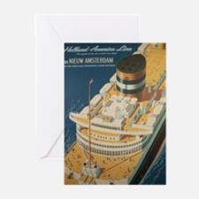 Vintage poster - Cruise ship Greeting Cards