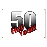 Funny 50 birthday Banners
