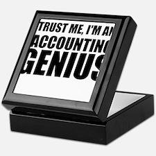 Trust Me, I'm An Accounting Genius Keepsake Box