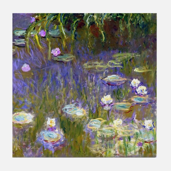Cute Claude monet art Tile Coaster