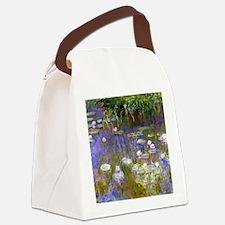 Cool Claude monet art Canvas Lunch Bag