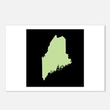 maine green black Postcards (Package of 8)
