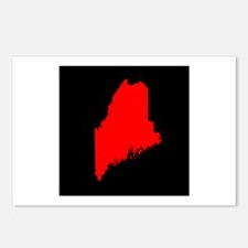 maine red black Postcards (Package of 8)