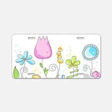 Spring Flowers Aluminum License Plate