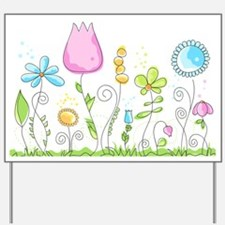 Spring Flowers Yard Sign
