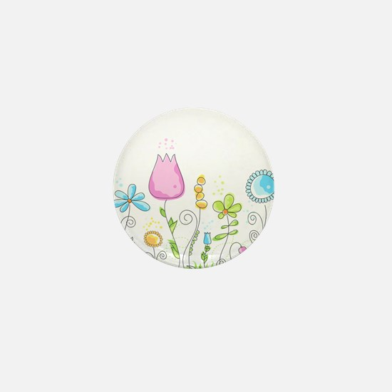Spring Flowers Mini Button
