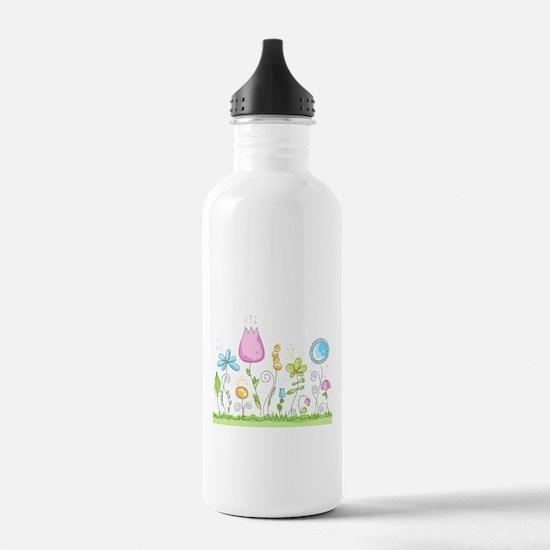 Spring Flowers Water Bottle