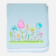 Spring Flowers baby blanket