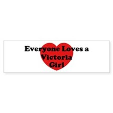 Victoria girl Bumper Bumper Sticker