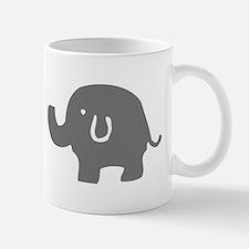 Cute Gray And White Elephant Mugs