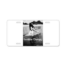 Scribble Therapy Cover2 Aluminum License Plate