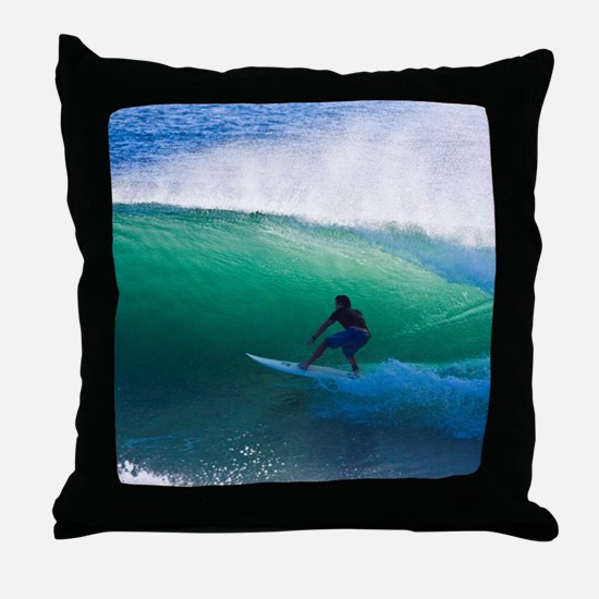 Surfing The Tube Throw Pillow