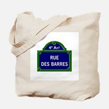 Rue des Barres, Paris - France Tote Bag