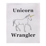 Unicorn Wrangler Throw Blanket