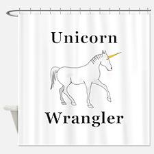 Unicorn Wrangler Shower Curtain